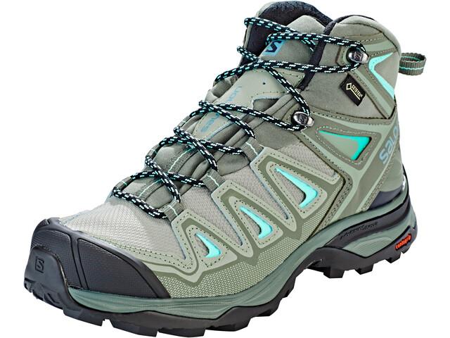 check out 0c14a d6270 Salomon X Ultra 3 Mid GTX Shoes Women shadow/castor gray/beach glass